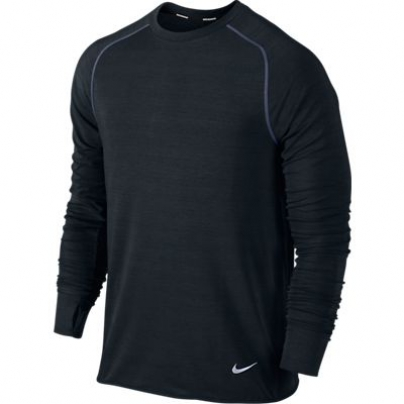 Mens Nike Dri-fit Sprint Crew - Black