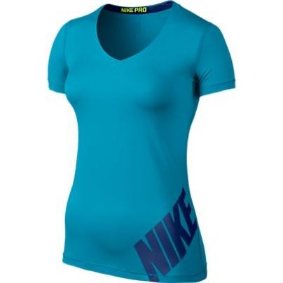 Womens Nike Pro Logo SS Top
